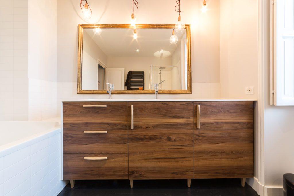 Meuble de salle de bains - agencement à Nantes